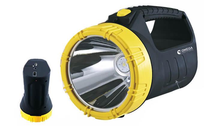 פנס נטען LED כולל סוללת גיבוי גרופון